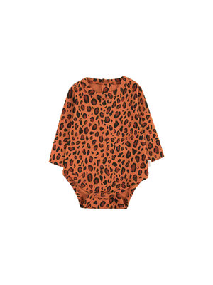 "Tiny cottons ""ANIMAL PRINT"" BODY sienna/dark brown"