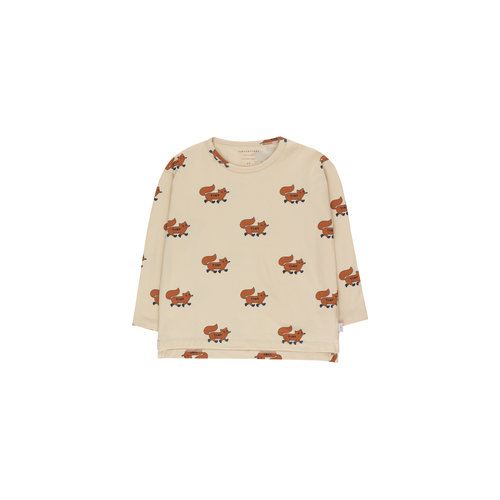 "Tiny cottons ""FOXES"" TEE cream/brown"