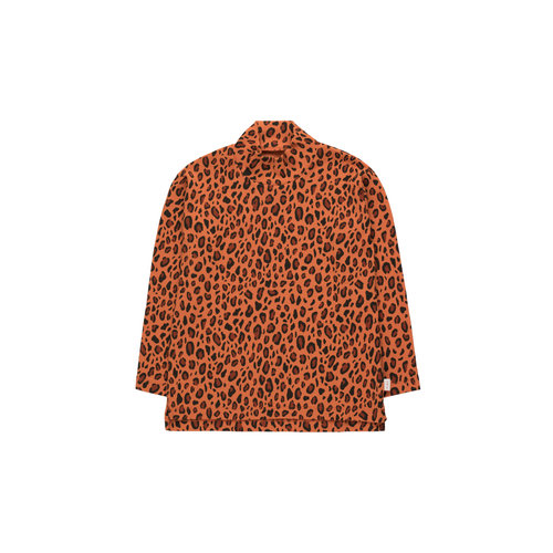 "Tiny cottons ""ANIMAL PRINT"" MOCKNECK TEE sienna/dark brown"