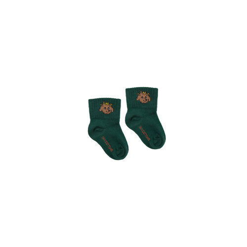 "Tiny cottons ""TINY DOG"" QUARTER SOCKS dark green/sienna"