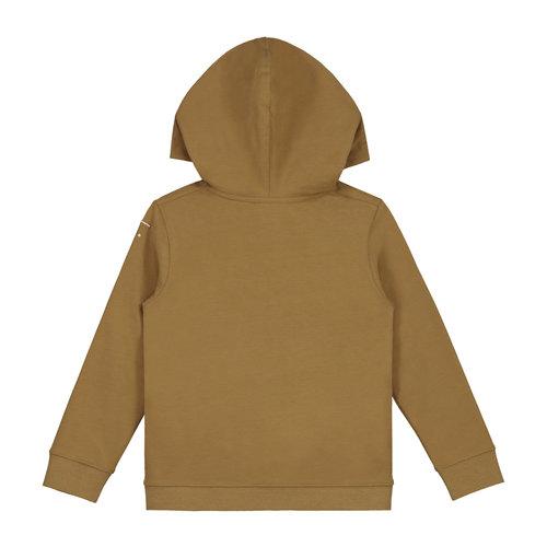 Gray label Hooded Cardigan peanut