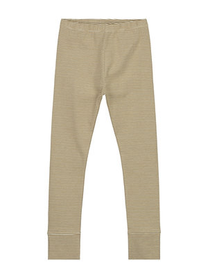 Gray label Leggings peanut creme stripe