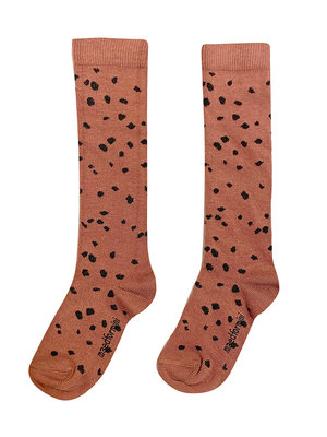 Maed for mini Brown Sahara Leopard AOP / Knee Socks