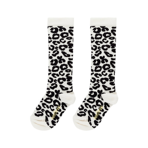 Maed for mini White Leopard AOP / Knee Socks