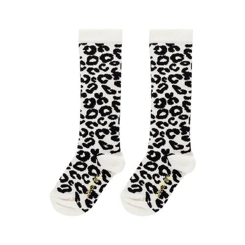 Maed for mini White Leopard AOP / Knee Socks