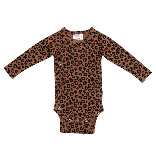 Maed for mini Chocolate leopard AOP/ Wrap body