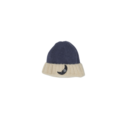 Wander & Wonder Two Tone Beanie navy cream
