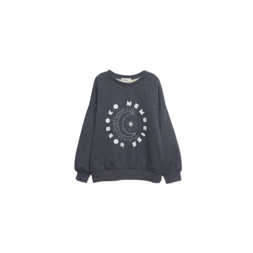 Wander & Wonder Morrocco Memories Sweatshirt charcoal heather