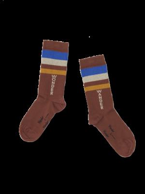 Wander & Wonder Stripe Socks brown stripe