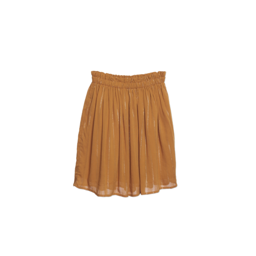 Wander & Wonder Gathered Skirt tumeric lurex
