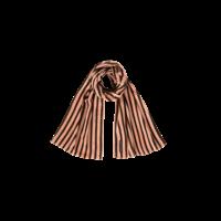 LONG SCARF Blush & Choco Stripes Velvet