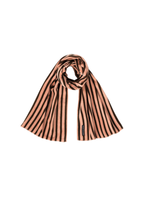 House of Jamie LONG SCARF Blush & Choco Stripes Velvet