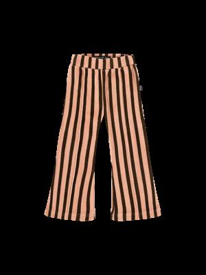 House of Jamie FLARED PANTS Blush & Choco Stripes Velvet