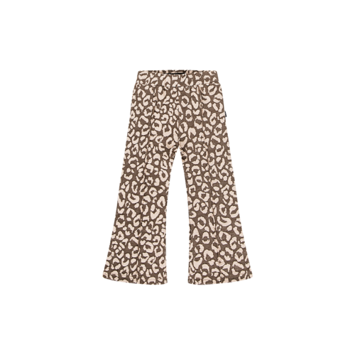 House of Jamie FLARED PANTS Rosewood Leopard