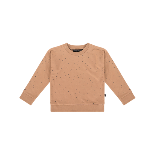 House of Jamie CREWNECK SWEATER Little Stars Mocca