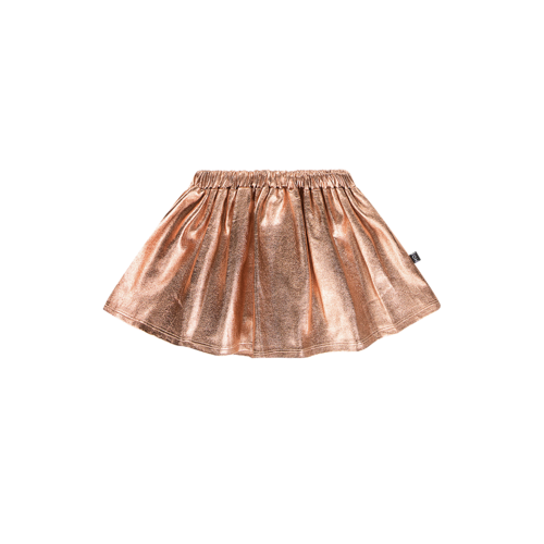 House of Jamie METALLIC SKIRT Rose Gold Metallic