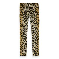 Organic cotton all-over printed skinny fit pants