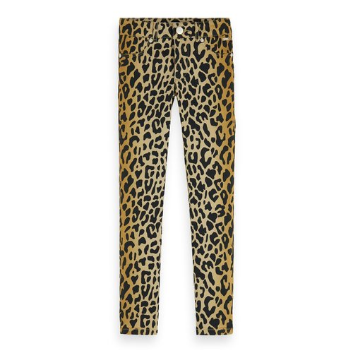 Scotch & Soda Organic cotton all-over printed skinny fit pants
