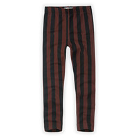 Pants Painted Stripe Black / Chocolate aw20-507
