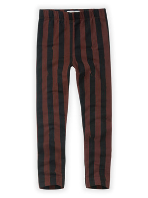Sproet&Sprout Pants Painted Stripe Black / Chocolate aw20-507