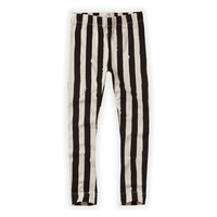 Legging painted stripe off white