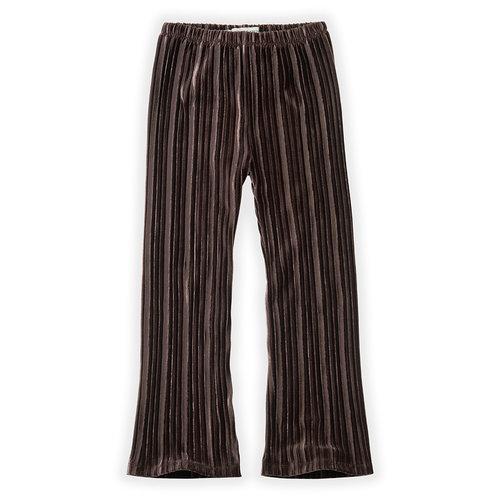 Sproet&Sprout Pants Velvet Pleats W20-511Chocolate