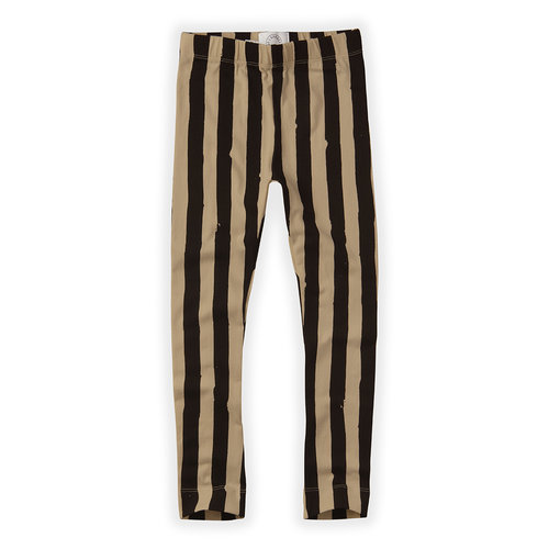 Sproet&Sprout Pants Painted Stripe Black / Nougat aw20-506