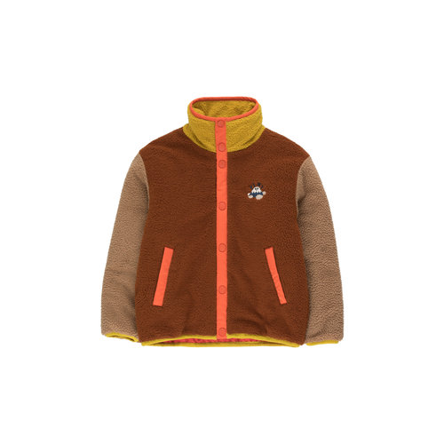 Tiny cottons COLOR BLOCK POLAR JACKET  sienna/tan