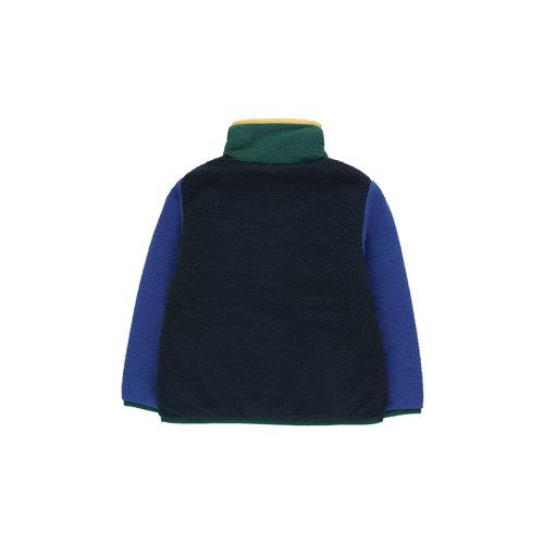 Tiny cottons COLOR BLOCK POLAR JACKET  navy/blue