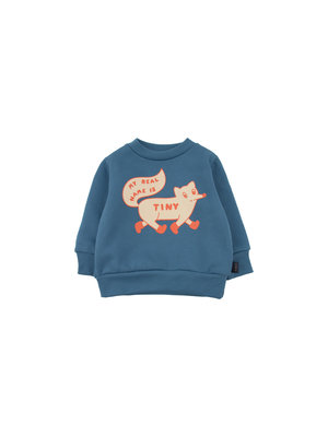 "Tiny cottons ""TINY FOX"" SWEATSHIRT *sea blue/cream*"