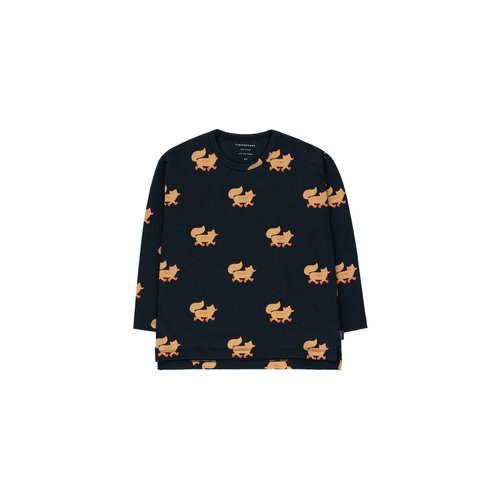 "Tiny cottons ""FOXES"" TEE *navy/camel*"