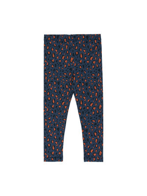 "Tiny cottons ""ANIMAL PRINT"" PANT *light navy/dark brown*"
