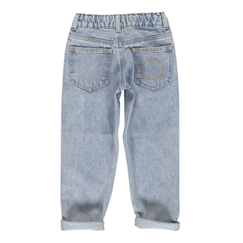 piupiuchick Mom fit trousers | Washed light blue denim jeans