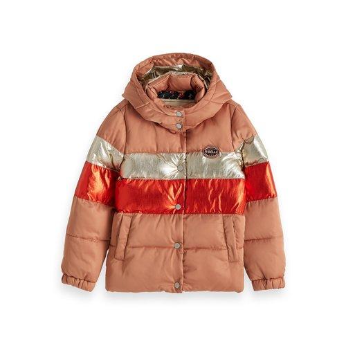 Scotch & Soda Colourblock puffer jacket 157923
