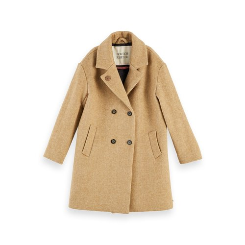 Scotch & Soda Oversized double wool coat 157915