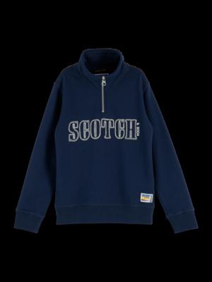 Scotch & Soda Half zip sweat 157683 donkerblauw