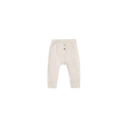 Quincy Mae Pointelle Pajama Pant pebble