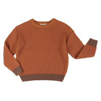 Knit  sweater roest bruin