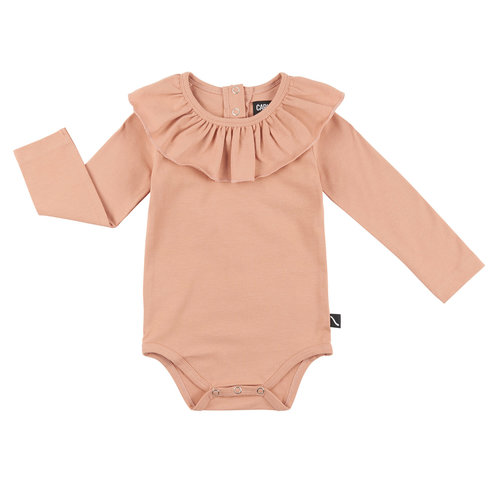 CarlijnQ Bodysuit with big collar roze
