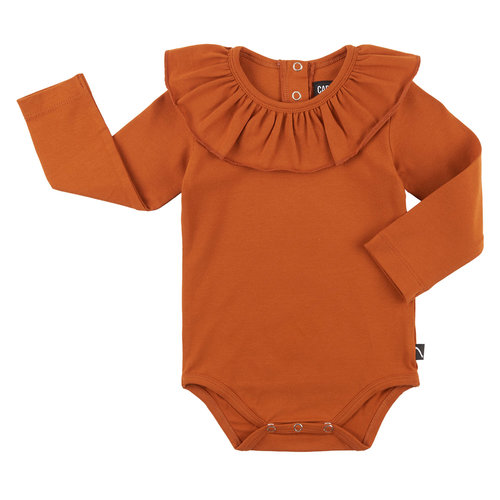 CarlijnQ Bodysuit with big collar rust