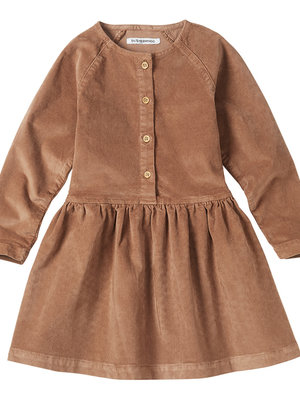 mingo Button Dress	Caramel