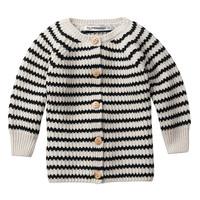 Baby Cardigan Stripes Black/White