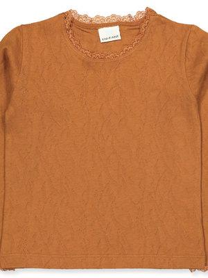 Enfant 91046 - Top met kant leather brown