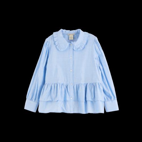 Scotch & Soda 158118 Boxy fit shirt with big ruffle edge collar