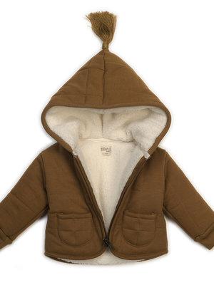 KidWild Organic baby jacket caramel