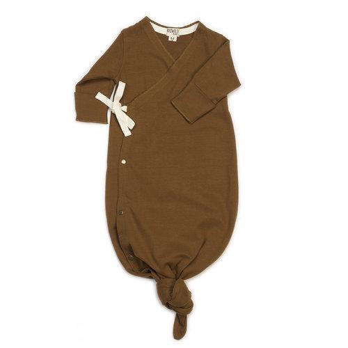KidWild Organic baby gown  caramel