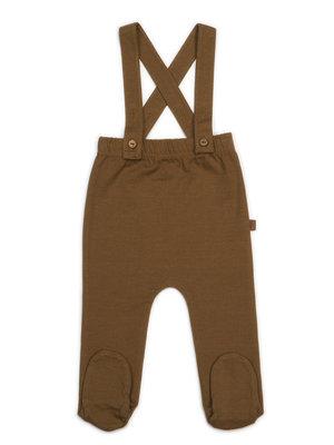 KidWild Organic  footed  suspender pants