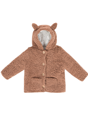 House of Jamie Teddy hooded jacket fox hazel