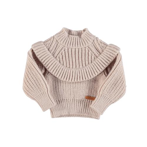 piupiuchick Knitted sweater with frills