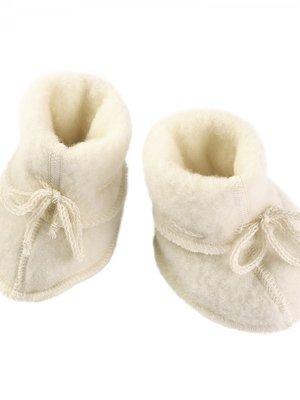 Engel Babyslofjes met lint naturel